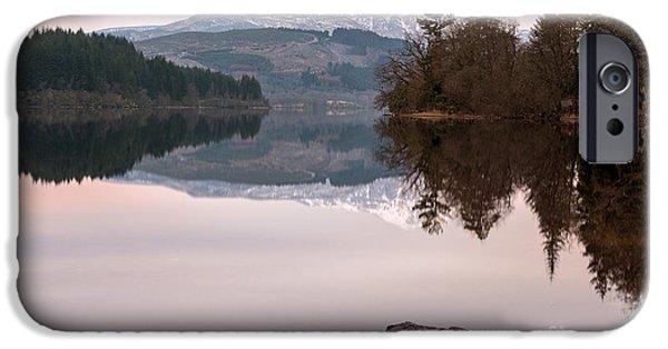 Ben iPhone Cases - Loch Ard iPhone Case by John Farnan
