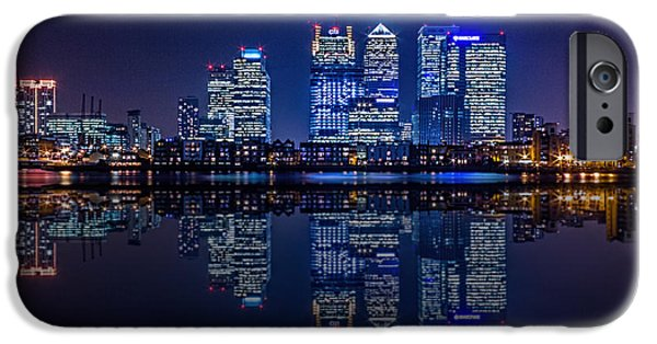 Canary iPhone Cases - London Skyline  iPhone Case by Ian Hufton