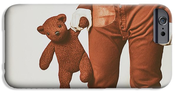 Pajamas iPhone Cases - Long Johns and Teddy iPhone Case by Ryan McGuire