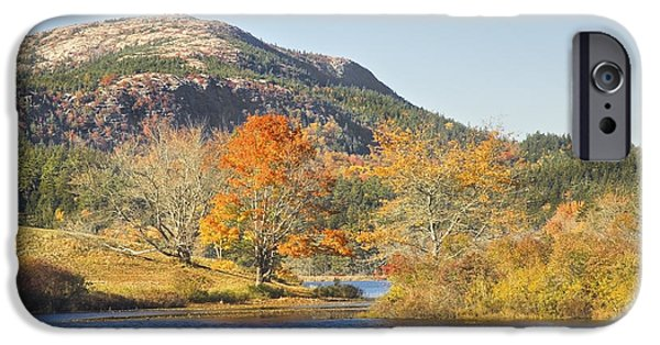 Maine iPhone Cases - Long Pond Acadia National Park Mount Desert Island Maine iPhone Case by Keith Webber Jr