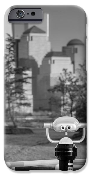 City Scape iPhone Cases - Looking At Freedom iPhone Case by Susan Candelario