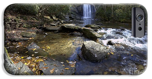 Blue Ridge Parkway iPhone Cases - Looking Glass Falls North Carolina iPhone Case by Dustin K Ryan