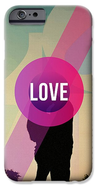 Women Together iPhone Cases - Love iPhone Case by Adam Asar