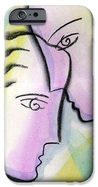 Bonding Paintings iPhone Cases - Love iPhone Case by Leon Zernitsky