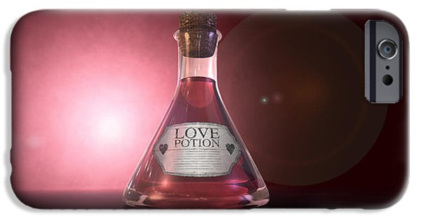 Sticker iPhone Cases - Love Potion iPhone Case by Allan Swart