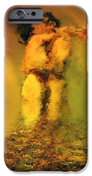 Embracing iPhone Cases - Lovers iPhone Case by Kurt Van Wagner