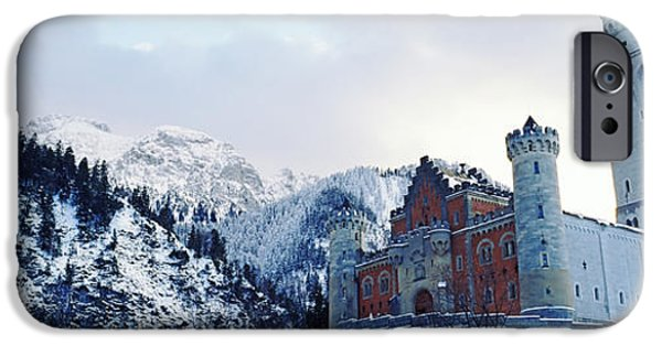 19th Century iPhone Cases - Low Angle View Of The Neuschwanstein iPhone Case by Panoramic Images