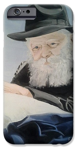Lubavitcher iPhone Cases - Lubavitcher rebbe iPhone Case by Elana Cohen