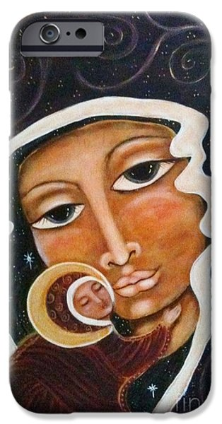 Maya Telford iPhone Cases - Madonna of the Milky Way iPhone Case by Maya Telford
