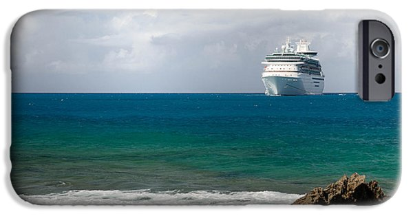 Private Island iPhone Cases - Majesty of the Seas at Coco Cay iPhone Case by Amy Cicconi