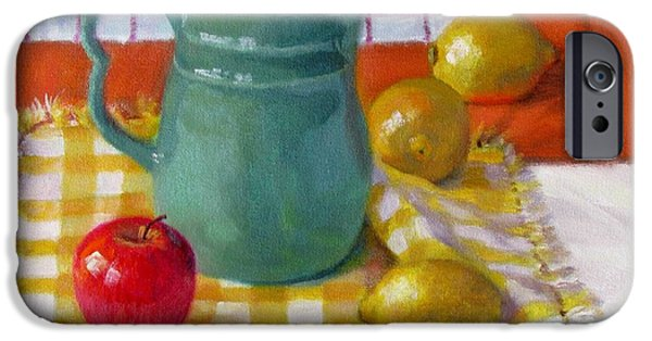 Old Pitcher Paintings iPhone Cases - Make Lemonade iPhone Case by Bonnie Mason