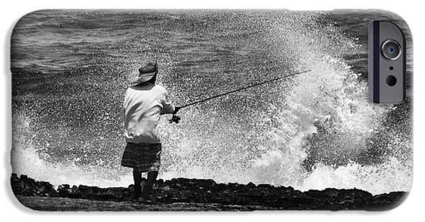 Fishermen iPhone Cases - Man versus the Sea iPhone Case by Mike  Dawson