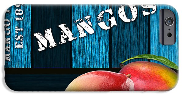 Fruit iPhone Cases - Mango Farm Sign iPhone Case by Marvin Blaine