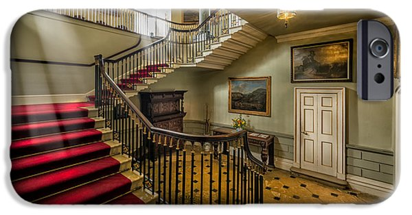Staircase iPhone Cases - Mansion Stairway iPhone Case by Adrian Evans