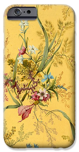 Nineteenth Century iPhone Cases - Marble end paper  iPhone Case by William Kilburn