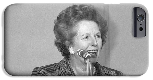 Baroness iPhone Cases - Margaret Thatcher iPhone Case by David Fowler