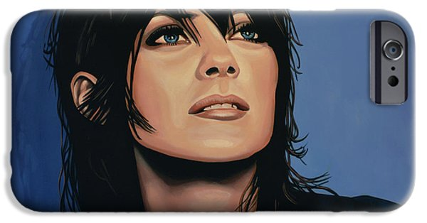Rise iPhone Cases - Marion Cotillard iPhone Case by Paul  Meijering