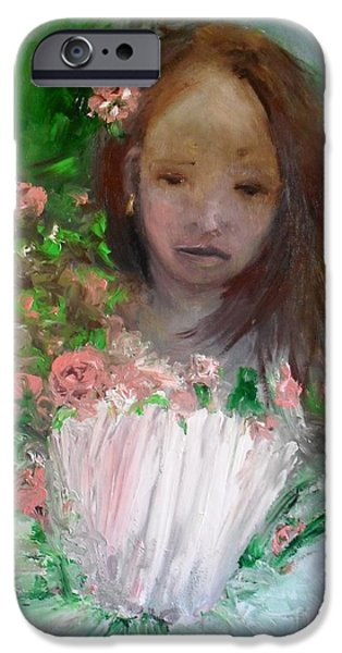 Mary Rosa iPhone Case by Laurie D Lundquist