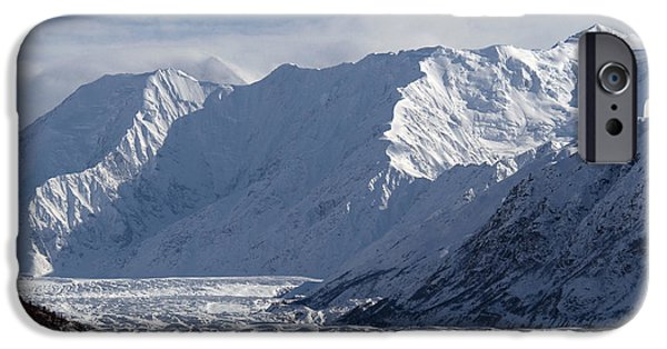 Matanuska iPhone Cases - Matanuska Glacier iPhone Case by Mark Newman
