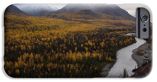 Matanuska iPhone Cases - Matanuska River, Alaska iPhone Case by Mark Newman