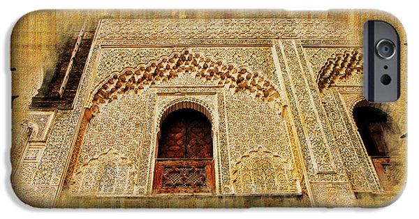 Historic Site Paintings iPhone Cases - Medina of Faz iPhone Case by Catf