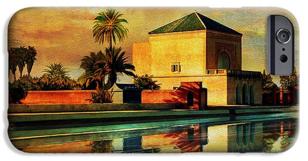 Historic Site Paintings iPhone Cases - Medina of Marakkesh iPhone Case by Catf