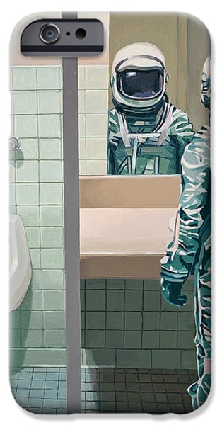 Bathroom iPhone Cases - Mens Room iPhone Case by Scott Listfield