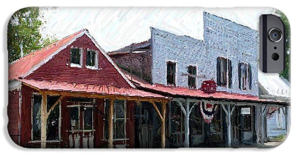 House Tapestries - Textiles iPhone Cases - Merchants Row II - Perryville KY iPhone Case by Thia Stover