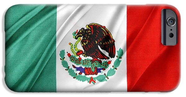 Flag Colors iPhone Cases - Mexican flag iPhone Case by Les Cunliffe