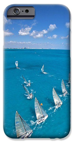 Mahogany Red iPhone Cases - Miami Horizon iPhone Case by Steven Lapkin