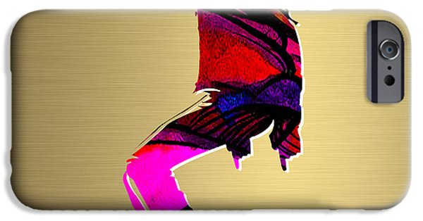 Michael iPhone Cases - Michael Jackson Gold Series iPhone Case by Marvin Blaine