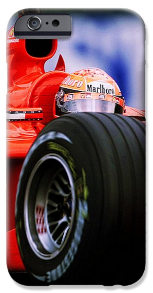 Circuit iPhone Cases - Michael Schumacher iPhone Case by Srdjan Petrovic