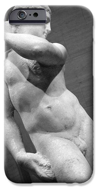 Cora Wandel iPhone Cases - Michelangelos David Apollo -- 3 iPhone Case by Cora Wandel