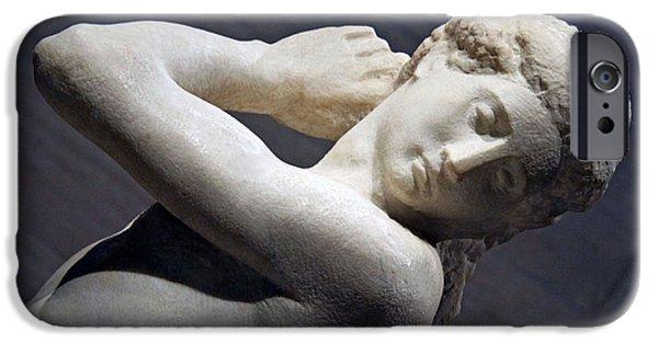 Cora Wandel iPhone Cases - Michelangelos David Apollo -- 4 iPhone Case by Cora Wandel