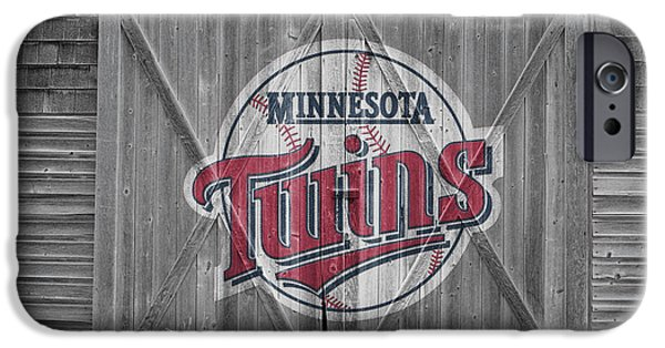 Baseball Glove iPhone Cases - Minnesota Twins iPhone Case by Joe Hamilton