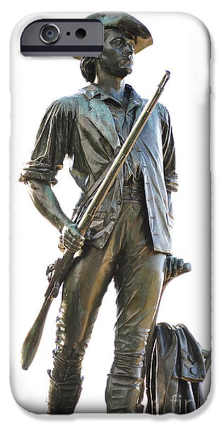Minute Man Statue Concord Massachusetts iPhone Case by Staci Bigelow