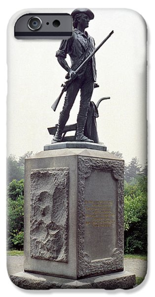 American Revolution iPhone Cases - Minutemen Soldier iPhone Case by Granger