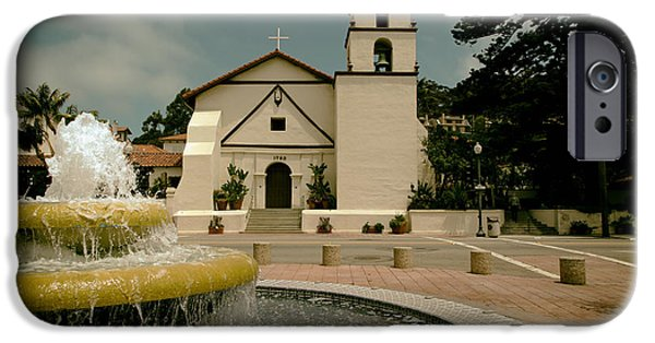 Ventura California iPhone Cases - Mission San Buenaventura iPhone Case by Mountain Dreams