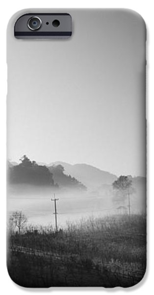 mist in the valley iPhone Case by Setsiri Silapasuwanchai