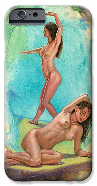 2 Models in Abstract iPhone Case by Paul Krapf