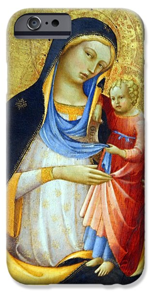 Cora Wandel iPhone Cases - Monacos Madonna And Child iPhone Case by Cora Wandel