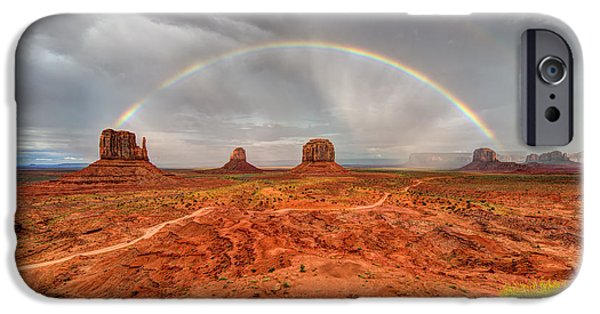 Beauty Mark iPhone Cases - Monument Valley Rainbow iPhone Case by Mark Whitt