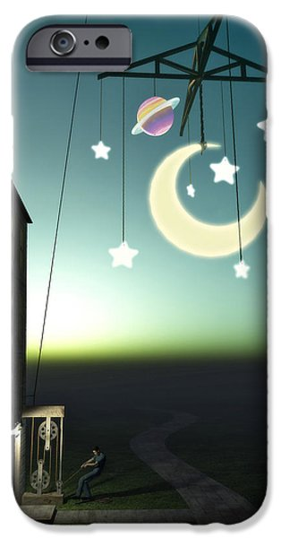 Constellations iPhone Cases - Moonrise iPhone Case by Cynthia Decker