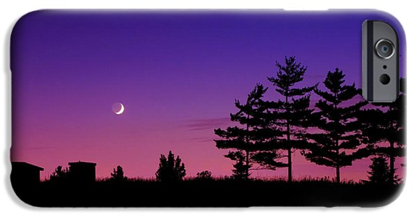 Moon iPhone Cases - Moonset iPhone Case by Cale Best