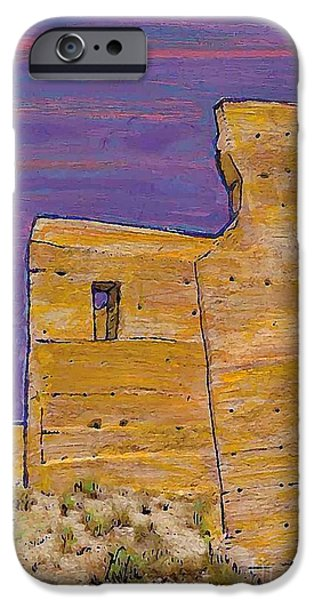 Ruin Mixed Media iPhone Cases - Moorish Fort in Jumilla iPhone Case by Sarah Loft
