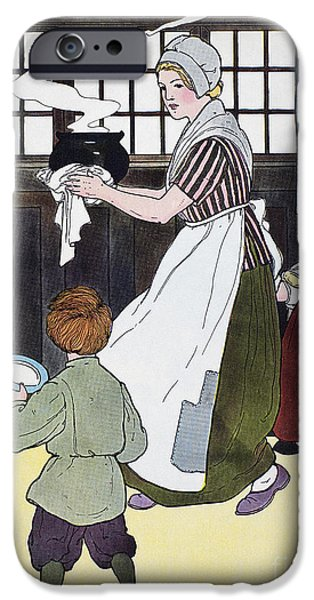 Porridge iPhone Cases - Mother Goose, 1916 iPhone Case by Granger