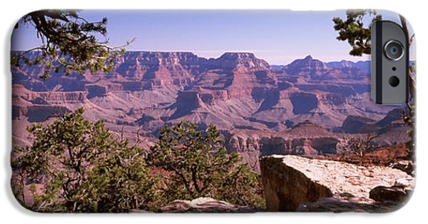 South Rim iPhone Cases - Mountain Range, Mather Point, South iPhone Case by Panoramic Images