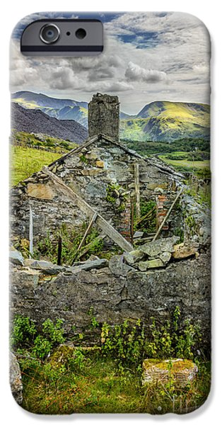 Dilapidated Digital Art iPhone Cases - Mountain View iPhone Case by Adrian Evans