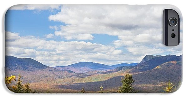 Maine Mountains iPhone Cases - Mountains In Fall Mount Blue State Park Weld Maine iPhone Case by Keith Webber Jr