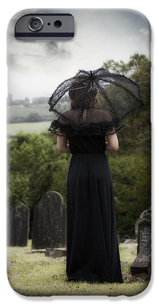 Eerie iPhone Cases - Mourning iPhone Case by Joana Kruse